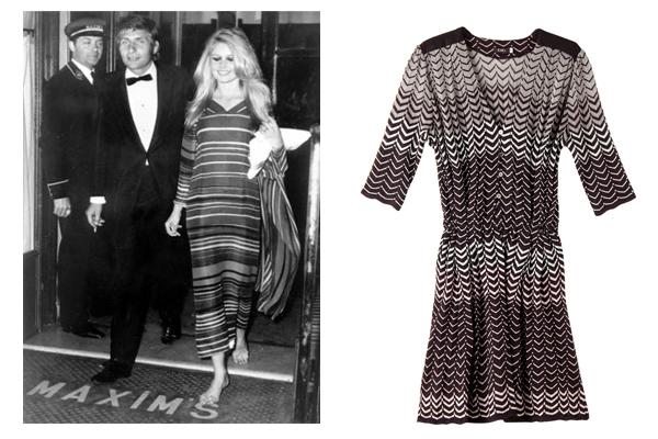 Túnica Bardot 1967 + Chemisier zig zag degradê da GIG: inspiração Missoni na túnica longa da eterna musa Bardot. Na versão atual, comprimento mini e cintura marcada